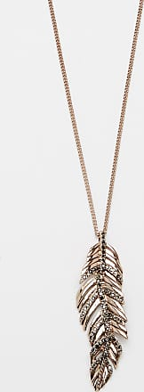 Maurices Rose Gold Hinge Feather Pendant Necklace