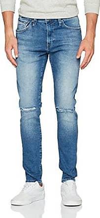 James, Vaquero Skinny para Hombre, Blau (Dark Brushed Printed Comfort 24153), 32W x 34L Mavi
