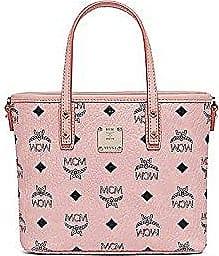 Anya Zipped Shopping Tasche in rosa Limonta sandfarben MCM