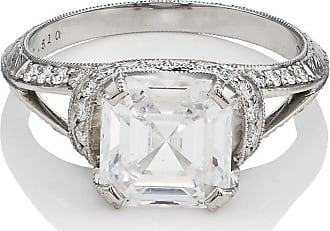 McTeigue & McClelland Womens White-Diamond Ribbon Ring