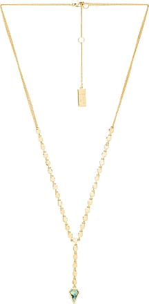 Melanie Auld Open Circle Tassel Necklace in Metallic Gold