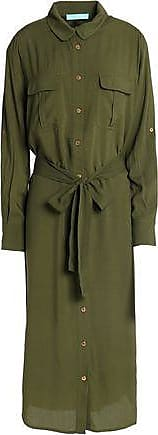 Melissa Odabash Woman Maryanne Belted Voile Coverup Army Green Size L Melissa Odabash