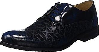 Melvin & Hamilton Austin 3 - Zapatos de Cordones de Otras Pieles para Hombre Negro Noir (Brush Black/RS) 42