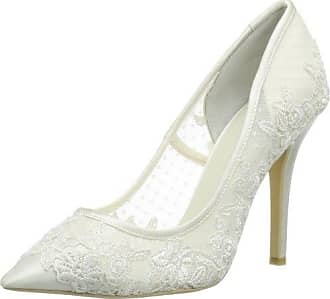 MENBUR 043450A04 PEDRERIA, Scarpe con tacco da sposa, Avorio (Elfenbein (Ivory)), 40