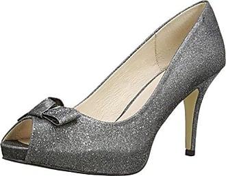 Mujer New Look Fiesta Peep Toe Zapatos Formales - Rojo, 37 EU