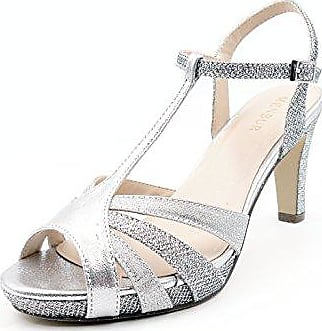 online store bc9f8 b3c0e Menbur Prunella, Damen Zehentrenner, Silber (Silber), ...