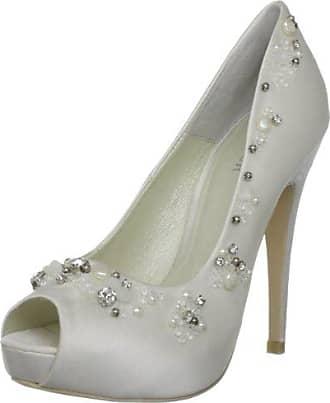 MENBUR 4195X004 - Zapatos de novia de tela para mujer, color marfil, talla 40
