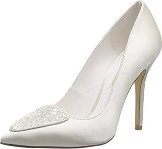 Menbur Filifera - Zapatos de boda de cuero mujer, color Blanco, talla 40 (7 UK) Menbur
