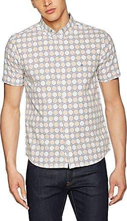 Hilfiger Denim Thdm SL Dot Dobby Shirt L/s 39 - T-Shirt - Coupe Cintrée - Manches Longues - Homme - Gris (Ebony 012) - 48 cm (Taille Fabricant: Medium)Tommy Jeans