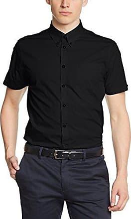 Japster - Chemise habillée - Coupe droite - Col boutonné - Manches longues - Homme - Noir (Black) - X-Large (Taille fabricant: XL)Merc
