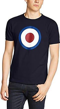 Ticket - T-shirt - Col ras du cou - Manches courtes - Homme - Bleu (Navy) - Large (Taille fabricant: L)Merc