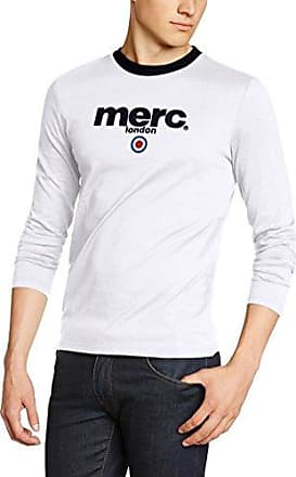 Fight - T-shirt - Col ras du cou - Manches longues - Homme - Blanc (White) - X-Large (Taille fabricant: XL)Merc