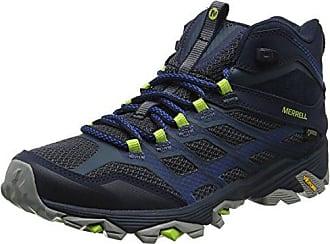 Merrell Moab FST Mid-Gore-Tex, Chaussures de Randonnée Hautes Homme, Noir (Noire), 43 EU