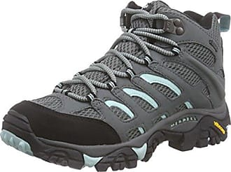 Merrell Moab Mid GTX, Damen Trekking- & Wanderstiefel, Grau (Sedona Sage), 42.5 EU