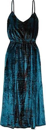 Suzie Tie-dyed Crushed-velvet Midi Dress - Navy Mes Demoiselles...