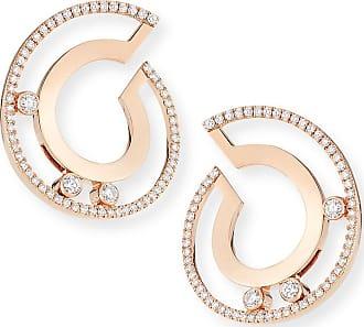 Messika 18k Move Roman Small Diamond Hoop Earrings