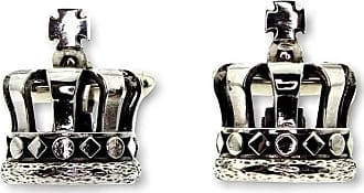 Metal Couture Sterling Silver Kings Crown Cufflinks
