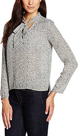 Mexx Women Blouse Long Sleeve, Blusa para Mujer, Gris (Pebble Grey), Medium