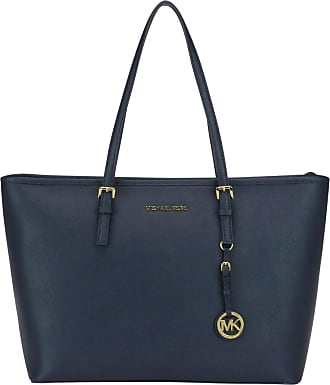 Tote Bag On Sale, Midnight Blue, Leather, 2017, one size Michael Kors