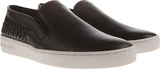 Zapatillas Slip On para Mujer Baratos en Rebajas Outlet, Negro, Piel, 2017, 39 Michael Kors