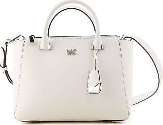Shoulder Bag for Women, White, Leather, 2017, one size Michael Kors
