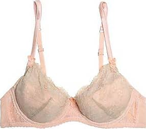 Mimi Holliday By Damaris Woman Crinkled Silk-georgette And Lace Underwired Balconette Bra Baby Pink Size 32 C Mimi Holliday