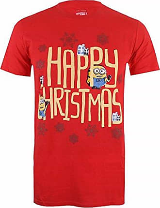 Happy Christmas, T-Shirt Homme, Rouge (Red Red), XXLMINIONS