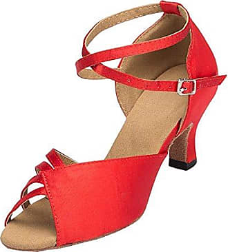 Minitoo , Damen Sandalen , Rot - Rosso (Red-Leather) - Größe: 36.5