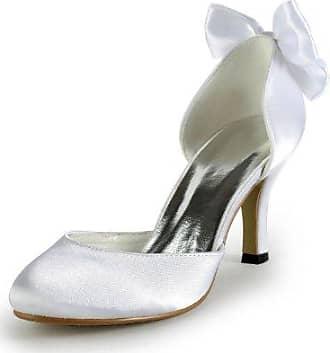 Minitoo , Damen Sandalen, weiß - White-10cm Heel - Größe: 41
