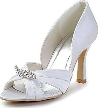 Minitoo , Damen Pumps, weiß - White-9.5cm Heel - Größe: 37