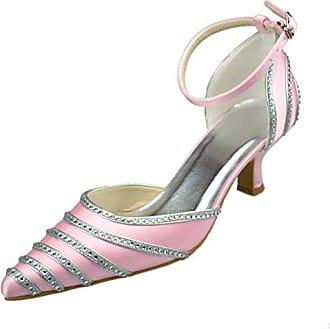 Damen Modische Hochzeitsschuhe Rosa Pink5cm Heel Grosse 375 Minitoo