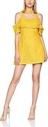 LPB Woman Robe Japonisante, Vestido para Mujer, Amarillo (Ocre Ocre), 40 (Talla del Fabricante: Large)