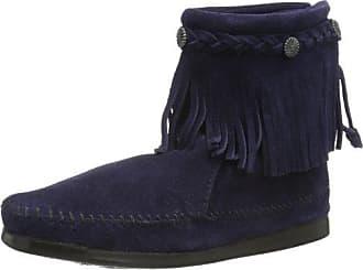 Minnetonka Hi Top Back Zip Boot 299L - Botas de cuero para mujer, color azul, talla, Rojo (Cognac), EU 38 (US 7)