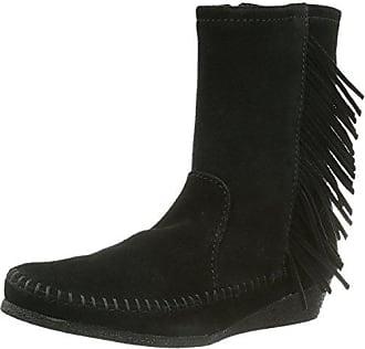 Baja Boot - Botas de cuero para mujer, color negro, talla 39 EU/8 US Minnetonka
