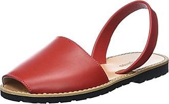 Tia385Sof, Sandalia con Pulsera para Mujer, Rojo (Red), 38 EU Softinos