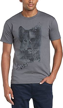 Mens Floral Skull Slim Fit Round Collar Short Sleeve T-Shirt Minted Fashion