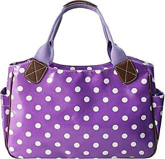 Damen Satchel-Tasche violett violett mit punkten Miss Lulu