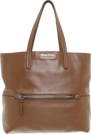 gebraucht - Tasche - Damen - Grau - Leder Miu Miu