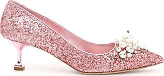 Glitter Embellished Pumps - IT39 / Pink Miu Miu