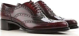 Zapatos Calados Brogue Baratos en Rebajas, Blanco, Piel, 2017, 36 37 38 39 40 Miu Miu