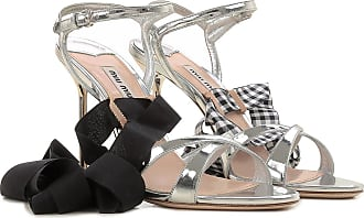 Sandals for Women On Sale in Outlet, Silver, Leather, 2017, 3.5 4.5 5.5 Miu Miu