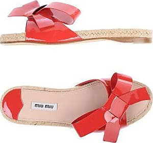 Sandals for Women On Sale in Outlet, Ibiscus Red, Acrylic, 2017, 3 3.5 4 4.5 5 6.5 7.5 Miu Miu