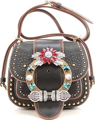 Shoulder Bag for Women On Sale, Black, Leather, 2017, one size Miu Miu