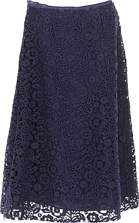 Skirt for Women On Sale, Baltic Blue, polyester, 2017, 24 26 28 30 Miu Miu