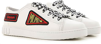 Sneakers for Women On Sale, White, Leather, 2017, 6.5 7.5 Miu Miu