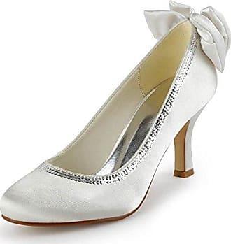 Minitoo , Damen Pumps, weiß - White-9.5cm Heel - Größe: 37.5