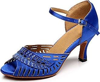 Damen Tanzschuhe, Blau - Blue-7.5cm Heel - Größe: 39 1/3 Miyoopark
