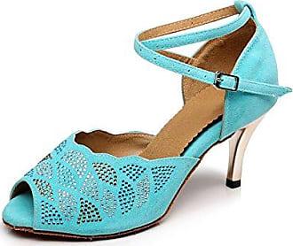 Miyoopark , Damen Tanzschuhe , Türkis - Turquoise-7.5cm Heel - Größe: 39 1/3