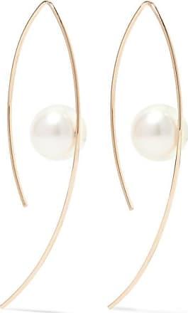 14-karat Gold Pearl Earrings - one size Mateo Bijoux