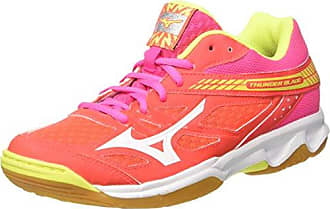 Womens Wave Tornado X2 WOS Volleyball Shoes, Rose/Orange/Jaune Mizuno